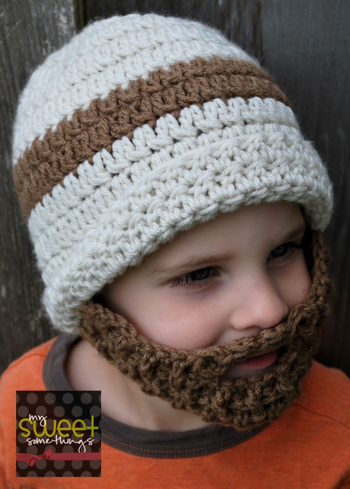 Famous Knitted Beard Hat Pattern Free Motif - Blanket Knitting ...