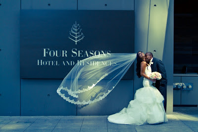 wedding party, blush wedding flowers, Four Seasons, Seattle wedding, Flora Nova Design