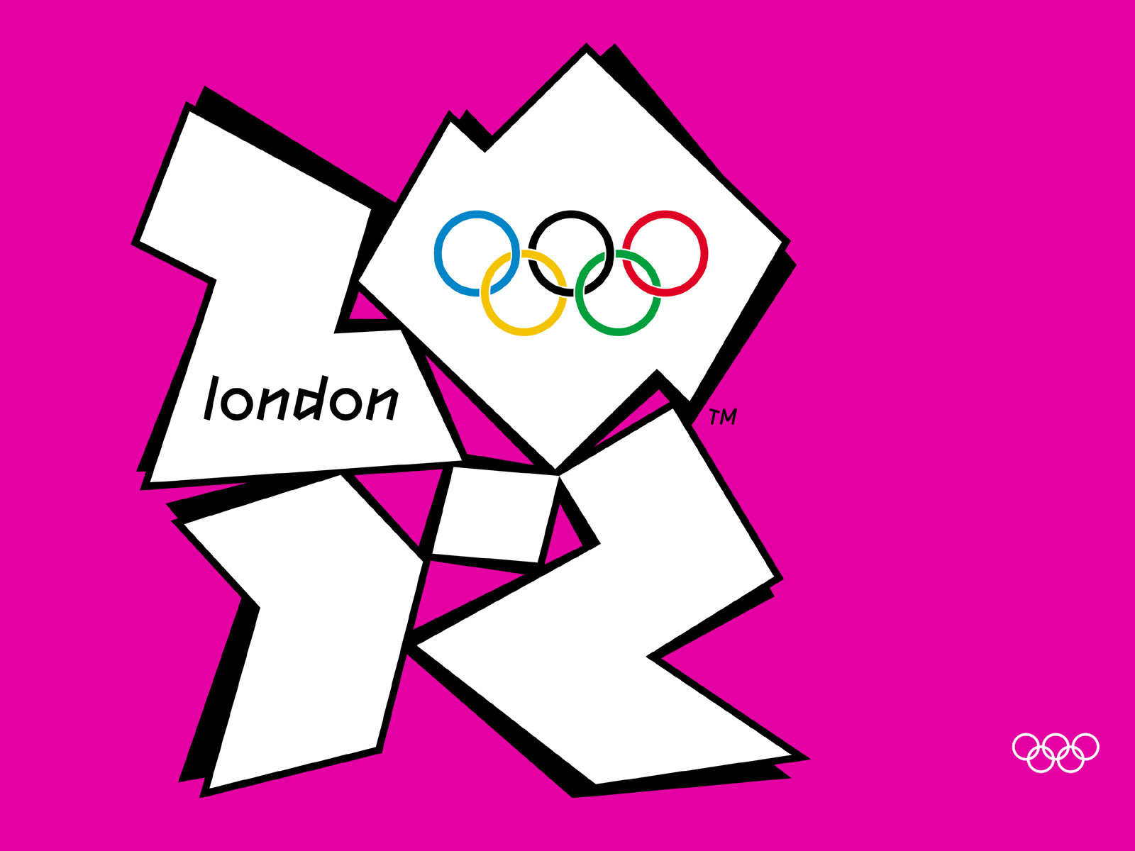 London Logo Wallpaper London 2012 Olympics Pink Logo