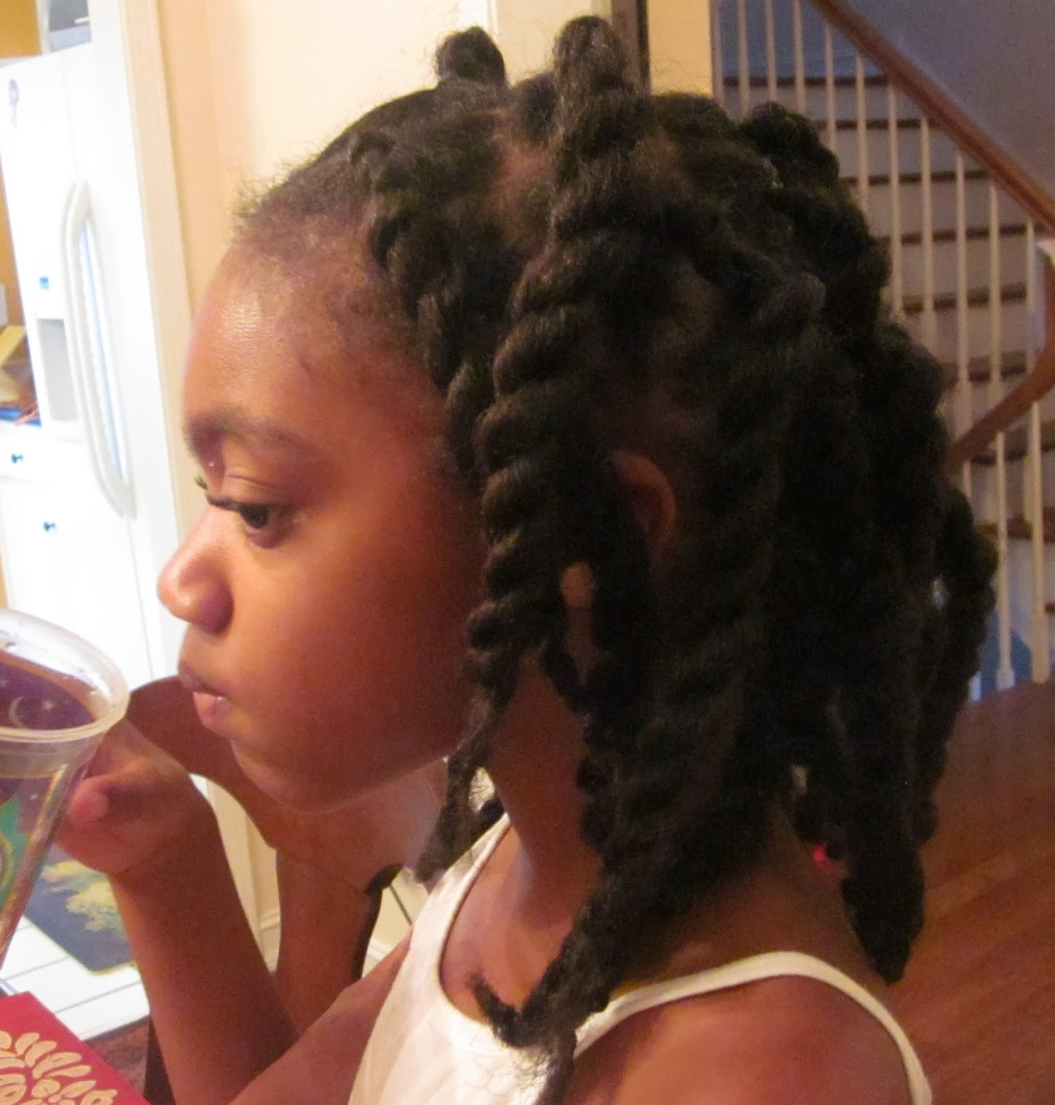 Princess Js Freshly Washed And Twisted Hair Using Beeswax