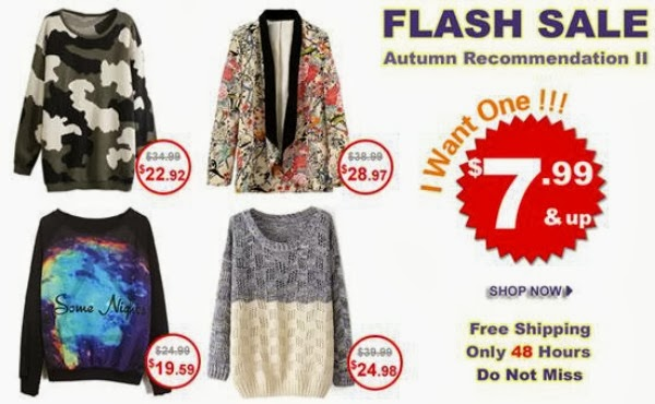 Romwe Flash Sale - Autumn Recommendations Starting at $7.99
