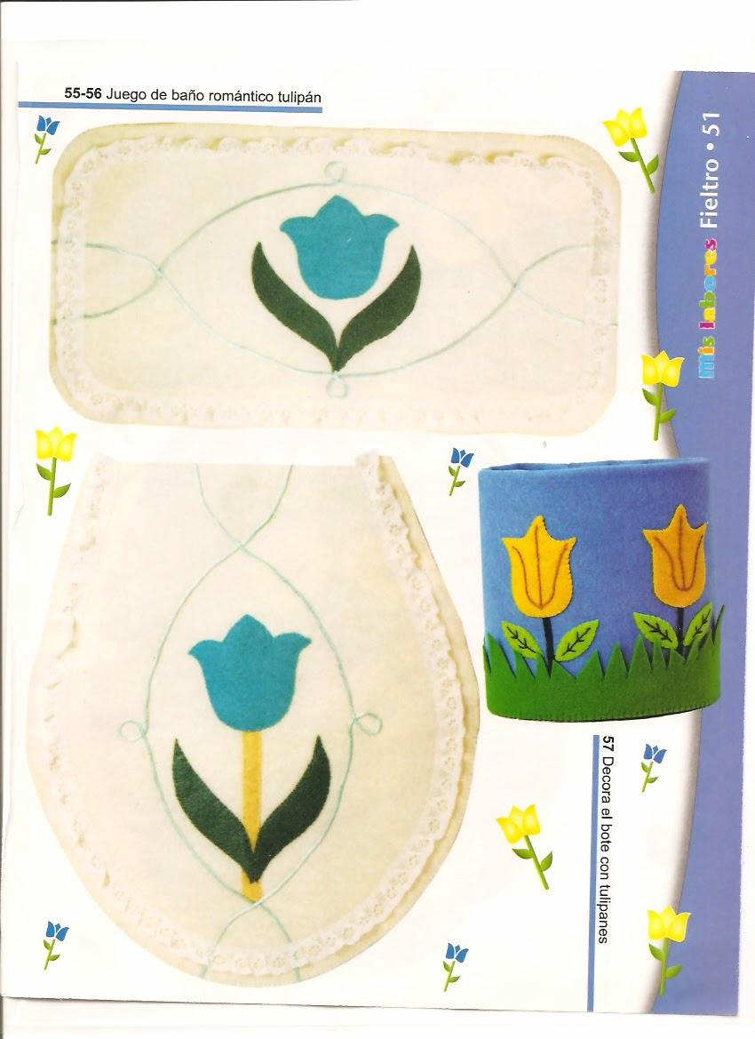 Revista Lenceria De Baño:Juegos de baño en fieltro – Revistas de manualidades Gratis