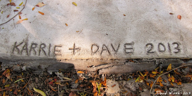 how to write name in concrete, when