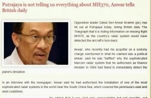 kes kehilangan MH370,  Anwar akan dedah kan lokasi sebenar MH370, info terkini pesawat MH370, berita
