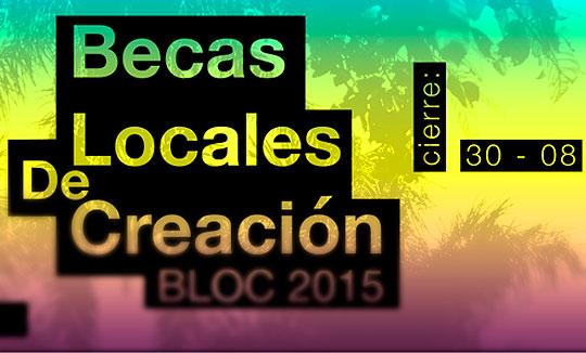 Becas para artistas en Cali. BLOC Becas de Creación Local 2015
