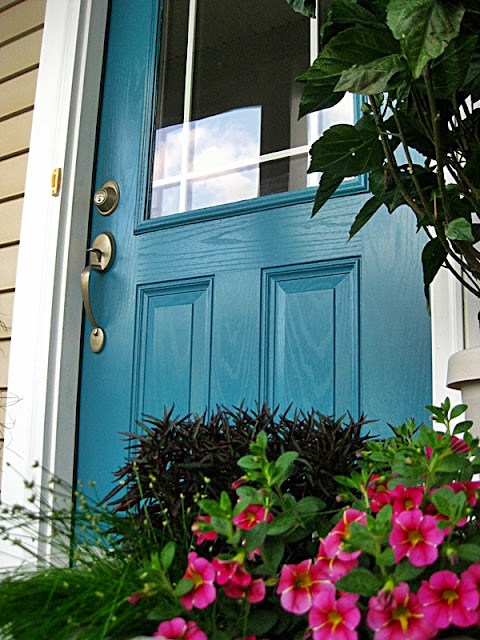 Benjamin Moore colors - Calypso Blue front door