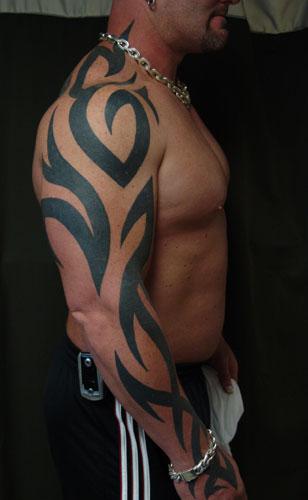 star tribal tattoos for men