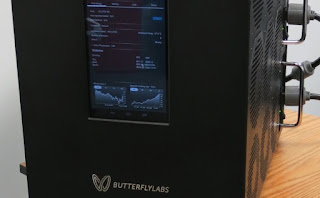 Butterfly Labs Bitforce mining rig