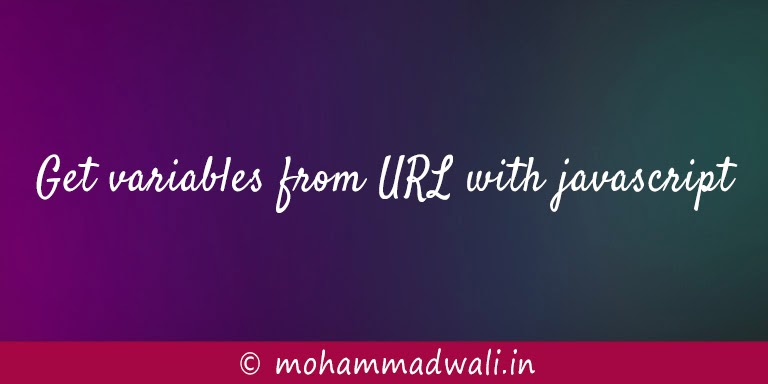 Get variables from URL with javascript