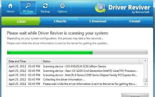 Interface do Driver Reviver