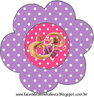 Tarjeta con forma de flor, de Enredados.