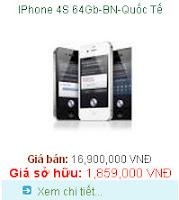 Tra gop Iphone 4s 64GB