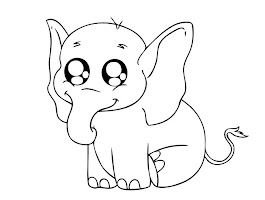 Mother And Baby Elephant Coloring Pages