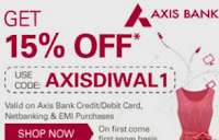 Ebay India : Axis Bank Customers 15% off : Buytoearn