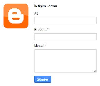 Blogger - İletişim Formunu Sabit Sayfaya Ekleme