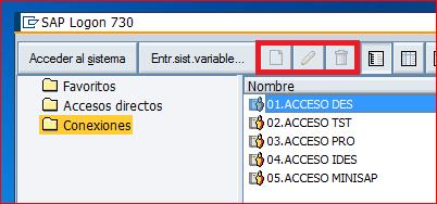 Conexiones de SAP Logon deshabilitadas