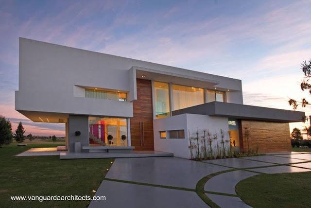 Casa residencial de concreto estilo Contemporáneo en Buenos Aires