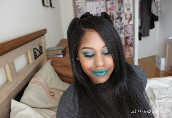 aaliyah makeup look melt cosmetics lipstick blow