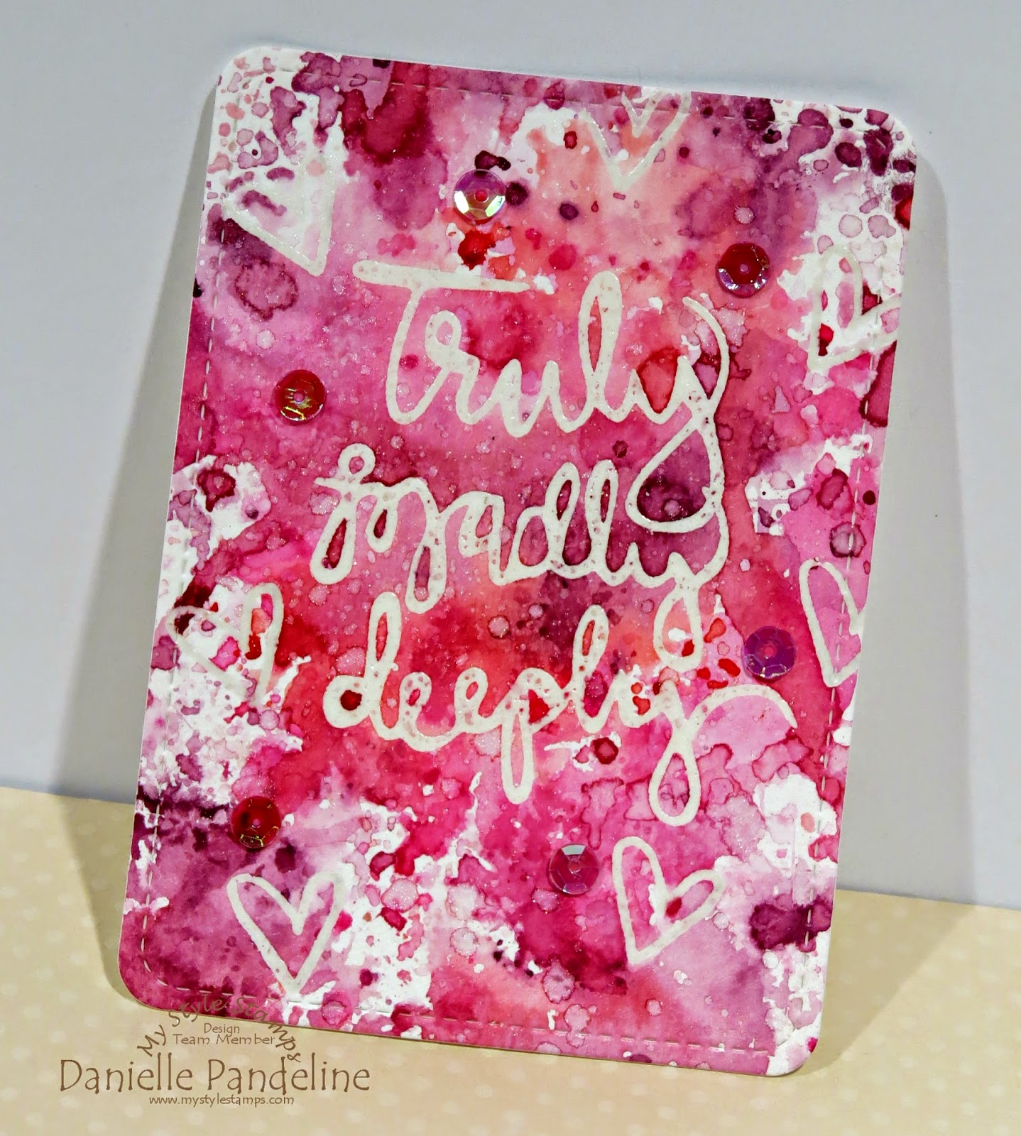 Love Pocket Card | featuring My Style Stamps |Created By Danielle Pandeline