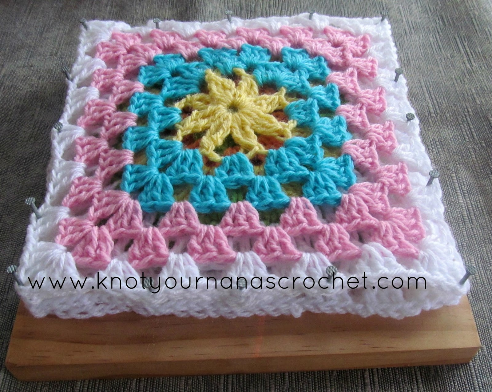 Knot Your Nanas Crochet: How I Block my Acrylic Granny Squares