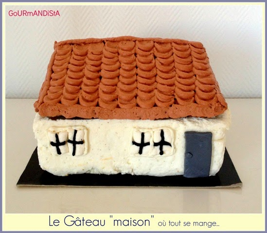 """image Le gâteau """"maison"""" : mousse au fromage et crémeux mangue-passion"""