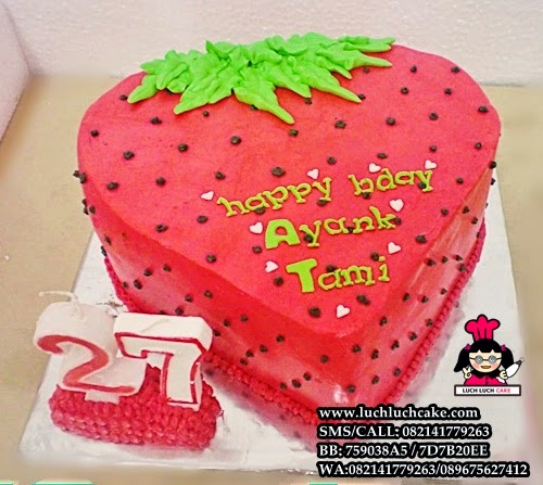 Kue Tart Strawberry 3D Daerah Surabaya - Sidoarjo