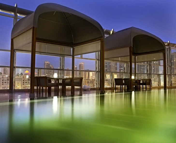 Swimming pool in Armani Burj Khalifa Hotel Dubai