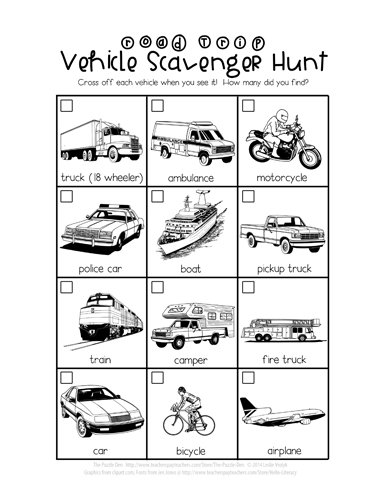 Vehicle Scavenger Hunt