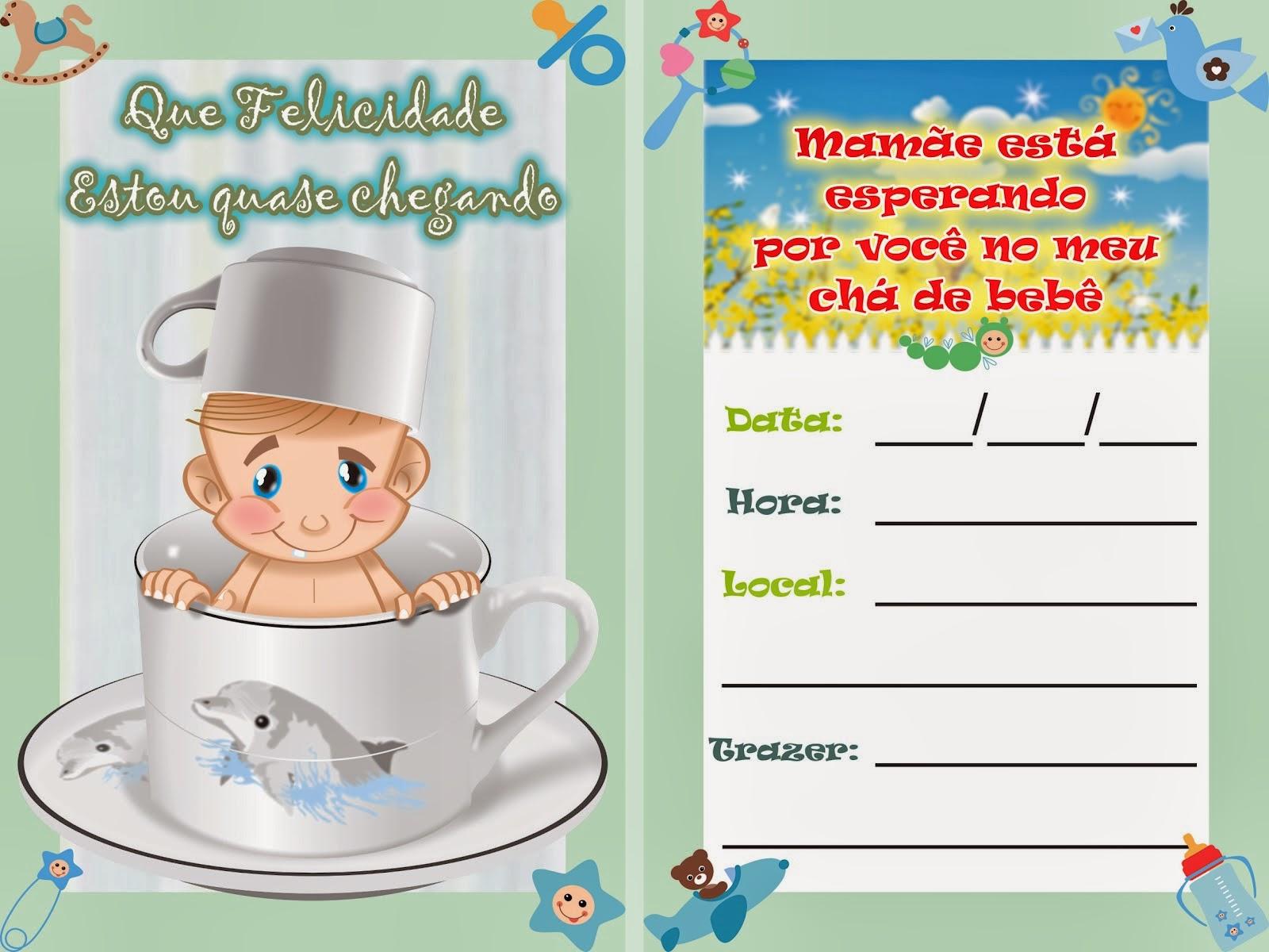 Convite para chá de bebê para imprimir 4