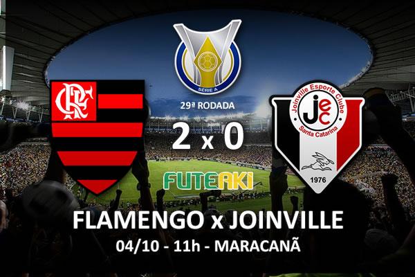 Veja o resumo da partida com os gols e os melhores momentos de Flamengo 2x0 Joinville pela 29ª rodada do Brasileirão 2015.