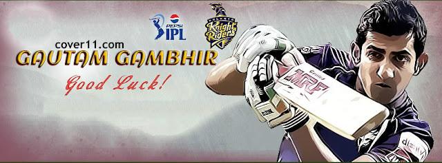 Gautam Gambhir Knight Riders Facebook Covers