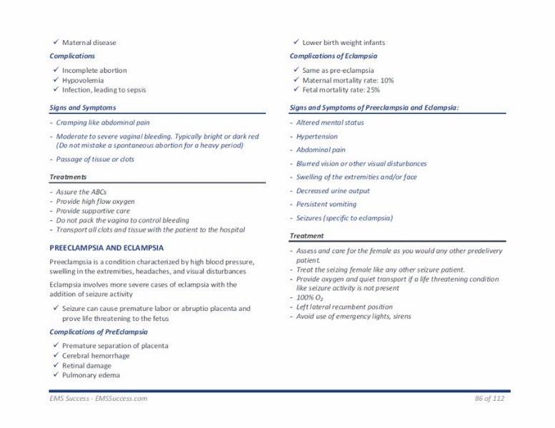 Paramedic Study Guides: 2012