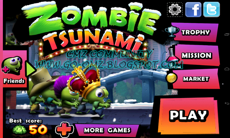 DOWNLOAD CHEAT Zombie Tsunami MOD + APK [ Unlimited Coins ]