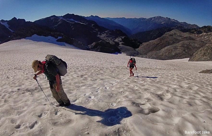 ultralight glacier crossing