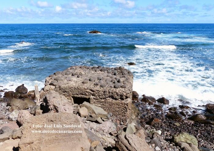 Búnker de la Segunda Guerra Mundial en playa de San Andrés, Arucas