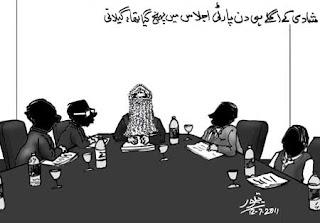 Cartoon on Gillani marriage