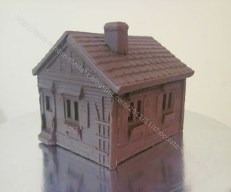 large chocolate house