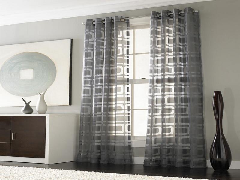 Decoração de sala com cortinas