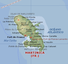 Mapa Martinique