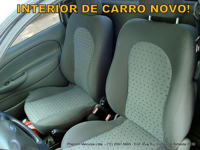 Ford Courier 2008 1.6 Flex - interior bancos