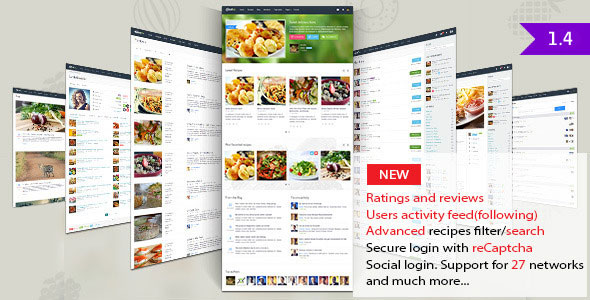 Free Download Gustos V1.4 Community-Driven Recipes, WordPress Theme