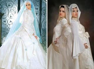 Gaun Busana Pengantin Pernikahan Muslim