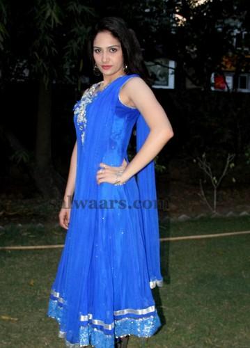 Komal Sharma Blue Salwar