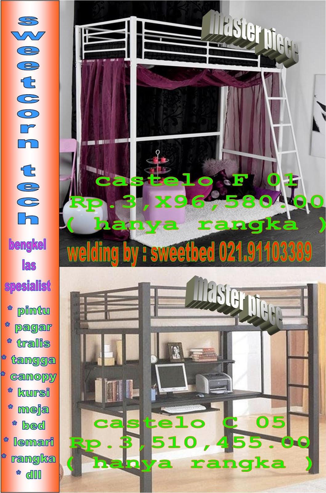 katalog tempat tidur besi