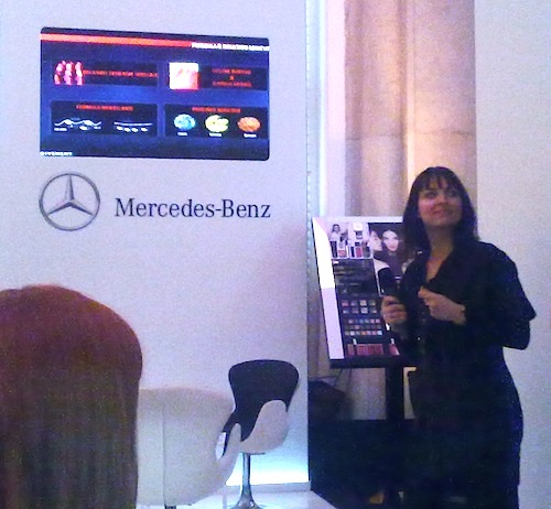 Agata Marino explaining the GENTLEMEN ONLY composition of the fragrance