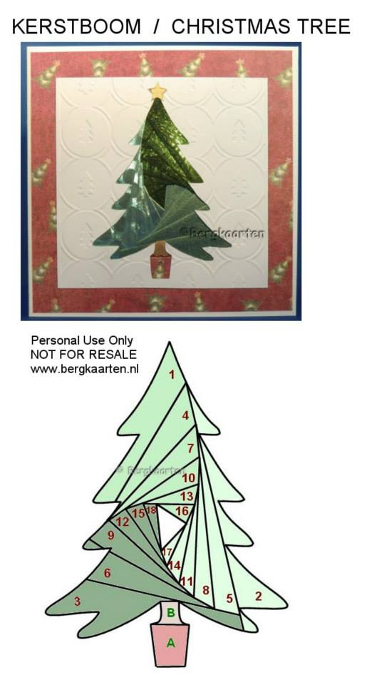 Irisvouwen: Christmas Tree