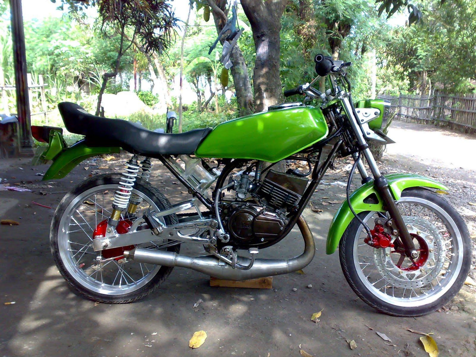 modifikasi motor rx king warna hijau  paling bagus