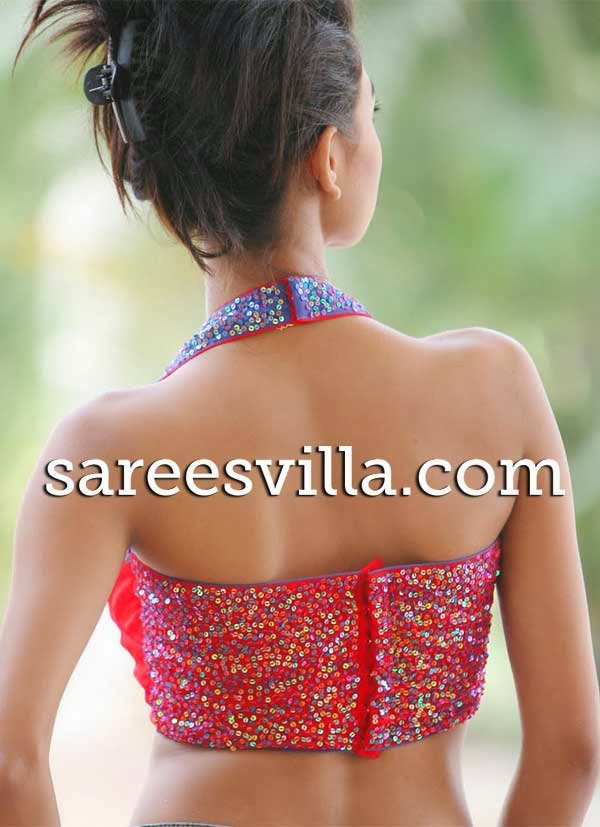 how to make halter neck blouse