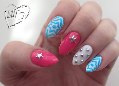 Patriotic Nail Art Design July 4th Stars Stamping Plate BP-11