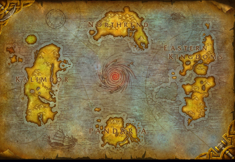 Master of world of warcraft pandaria shows up on the world map heres the current cataclysm world map to compare gumiabroncs Gallery
